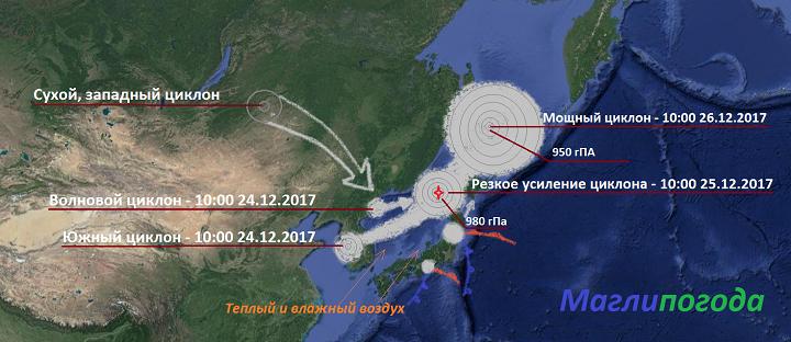 На Дальний Восток обрушится мощный циклон