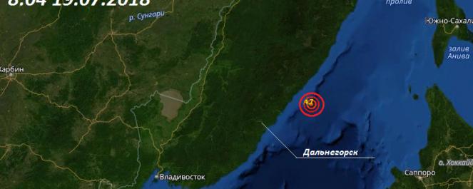 В 50 км от побережья Тернейского района произошло землетрясение