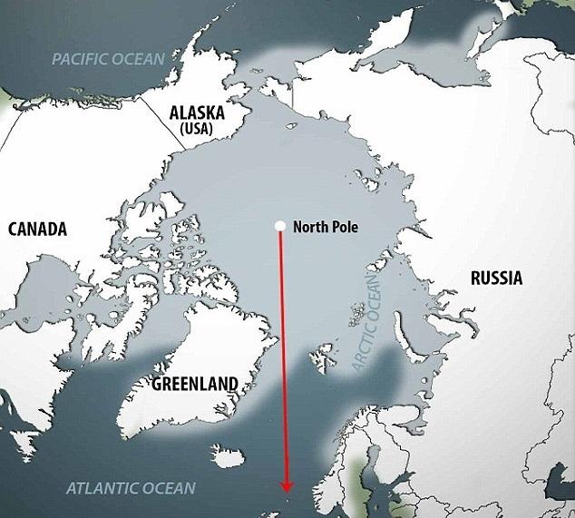 Изменение климата двигает Северный полюс