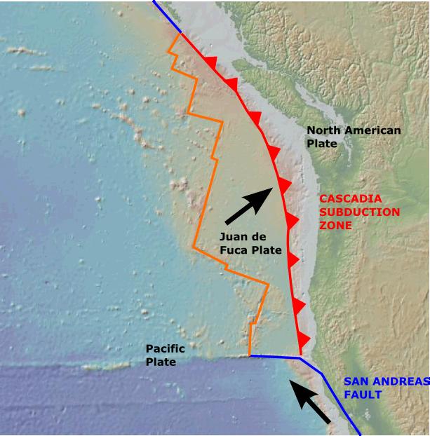 Зона субдукции Каскадий. Потенциальная угроза для Дальнего Востока