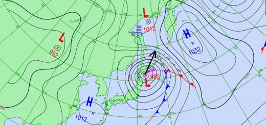 16 июня на Сахалин и Курильские острова обрушится мощный циклон