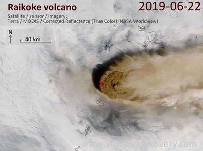 Внимание! Началось извержение вулкана Райкоке на Северных Курилах